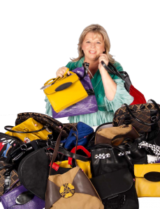 Photo shoot showing the ultimate bag lady! Courtesy of Perth Woman magazine.