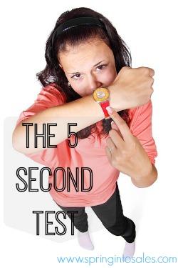 5 second website test
